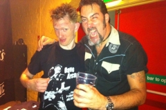 With J D Wilkes (th'Legendary Shack*Shakers) after a joint show - 2010