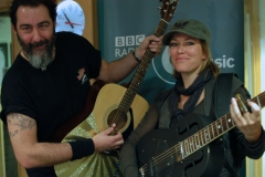 With Cerys Matthews after a live session on her BBC 6 Music show (Jan 2011)