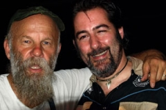 With Seasick Steve after our show together at the Liquid Room, Edinburgh - August 2008 (pic: Paul Webster)